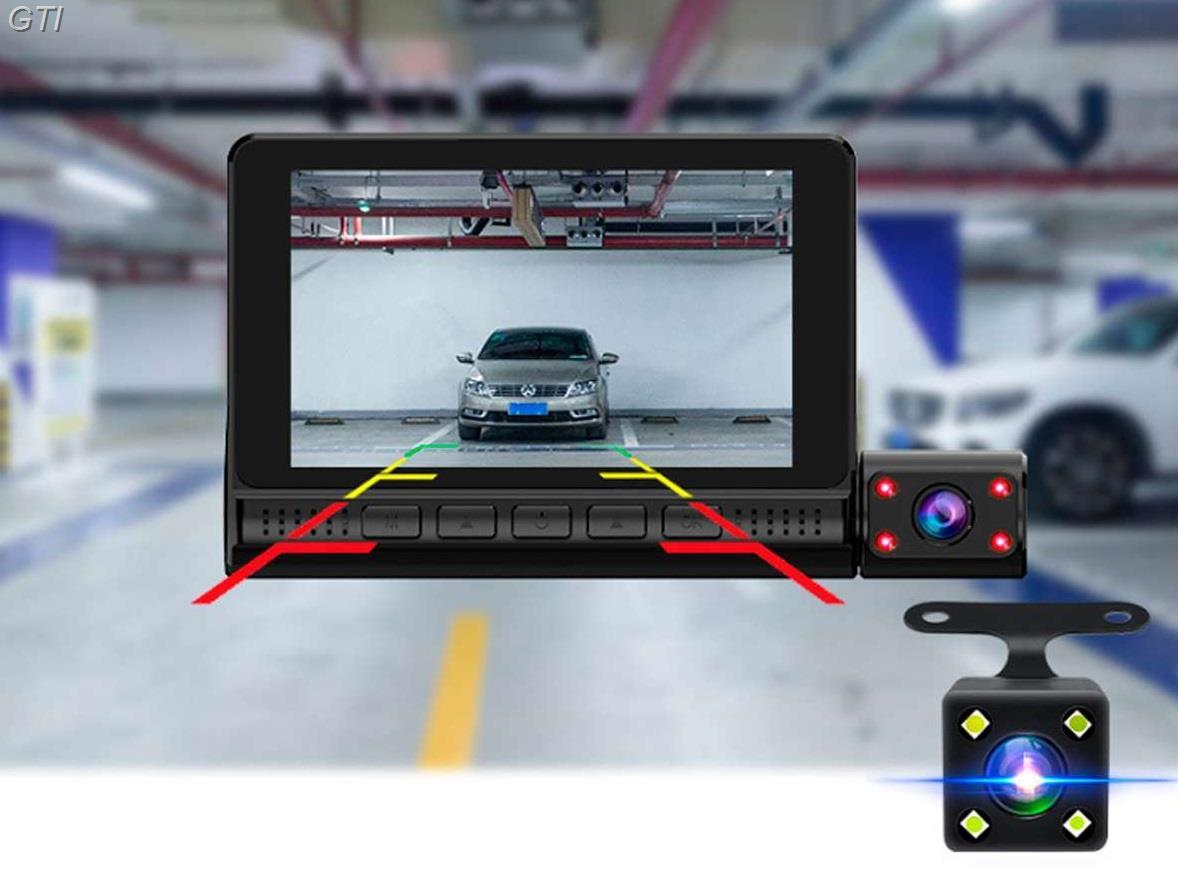 מצלמת דרך לרכב  360 מעלות עם צג מגע ענק 4 אינץ ועברית מלאה !