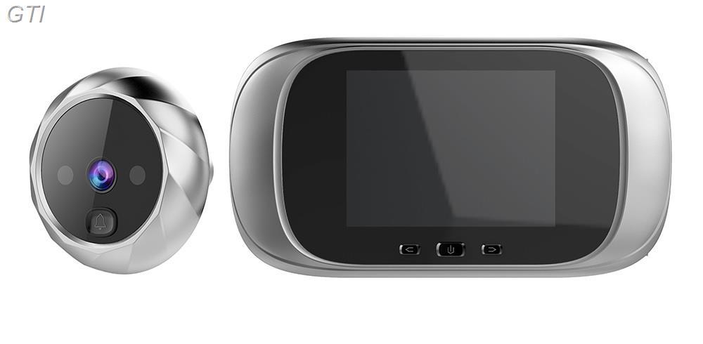 עינית דיגיטלית + צג LCD כולל צילום תמונות תאורת לילה ופעמון כניסה