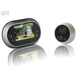 עינית דיגיטלית לדלת עם צג 3.5 אינץ משולבת פעמון כניסה