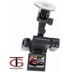 מצלמת רכב דואלית - פנים וחוץ לצילום פנים הרכב והדרך עם עדשות מתכווננות