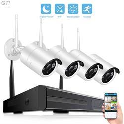 מערכת אבטחה אלחוטית DVR ו4 מצלמות אלחוטיות תמיכה בצפייה מרחוק מהסמארטפון APPLE/ANDROID