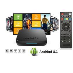 סטרימר ANDROID TV BOX 4K ULTRA גירסה 8.1 OREO שלט כולל מגוון תוכנות ונגני מדיה -