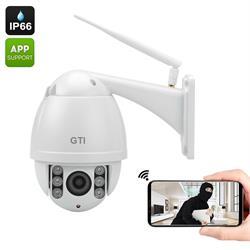 מצלמה אבטחה HD IP חיצונית ממונעת GTI – 360 מעלות לתנאי חוץ קשים וראית לילה IR