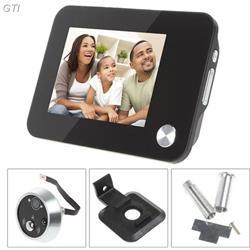 עינית דיגיטלית + צג LCD 3.5 אינץ' כולל הקלטה תאורת לילה ופעמון כניסה