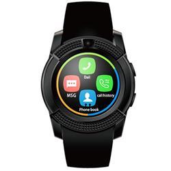 שעון יד עגול ויוקרתי משולב טלפון חכם עצמאי עם כרטיס SIM, כולל מצלמה צבעונית מובנית