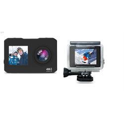 מצלמת וידאו 4K 60fps אלחוטית עם צג כפול לפעילויות אקסטרים ספורט פנאי וצילומי סלפי