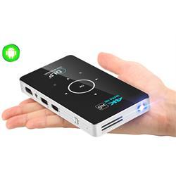מקרן מולטימדיה אלחוטי חכם נייד ועוצמתי מבוסס ANDROID עד 150 אינץ' בטכנולוגיית 4K LED