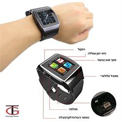 שעון יד משולב טלפון חכם עצמאי עם כרטיס SIM, חיבור Bluetooth, מצלמה מובנית ותמיכה בעברית