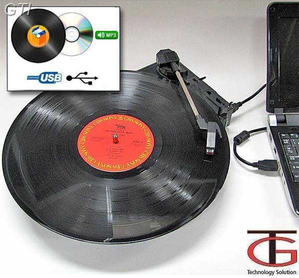 חדש ! פטיפון מיני בחיבור USB למחשב - ממיר את התקליטים הישנים לקובץ MP3