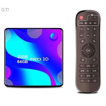 סטרימר  ANDROID TV BOX 4K PS 10.0 + שלט כולל מגוון תוכנות ונגני מדיה