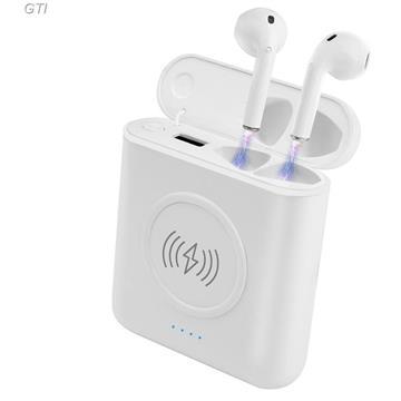 אוזניות זעירות Bluetooth סטריאו TWS אלחוטיות נטענות עם מיקרופון מובנה וערכת הטענה מהירה