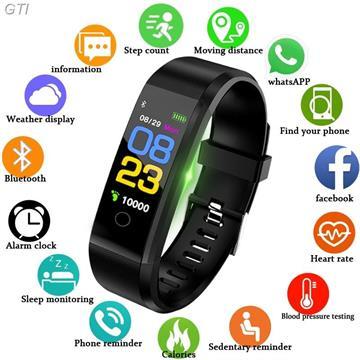שעון ספורט חכם  עם מד חום ,מד דופק ,מד לחץ דם ,שריפת קלוריות ועוד