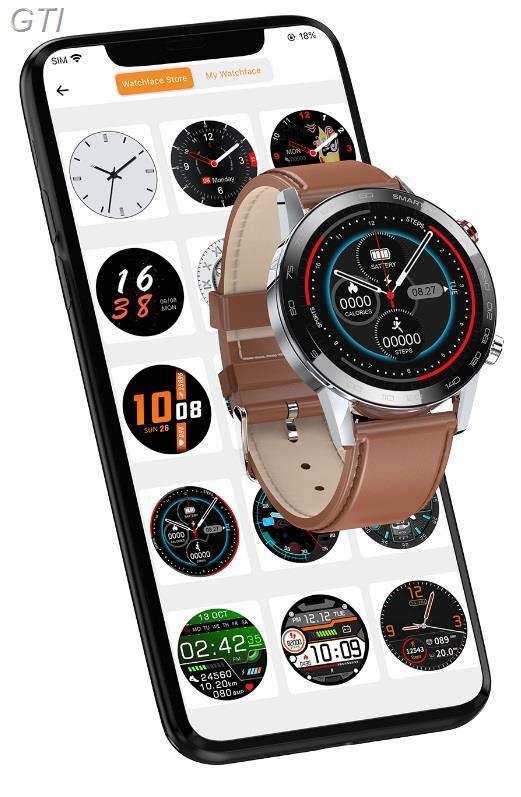 שעון חכם אטום למים עם עברית מלאה עם מד דופק מובנה ותאימות לIphone/android