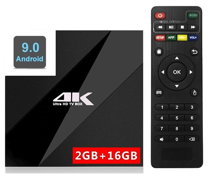 סטרימר ANDROID TV BOX 4K ULTRA גירסה 9.0 PIE שלט כולל מגוון תוכנות ונגני מדיה